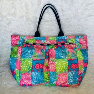 LeSportsac Lily Pulitzer Large Tote Gym / Baby Bag